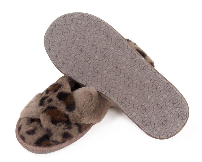 Cheetah Slippers Bottom View