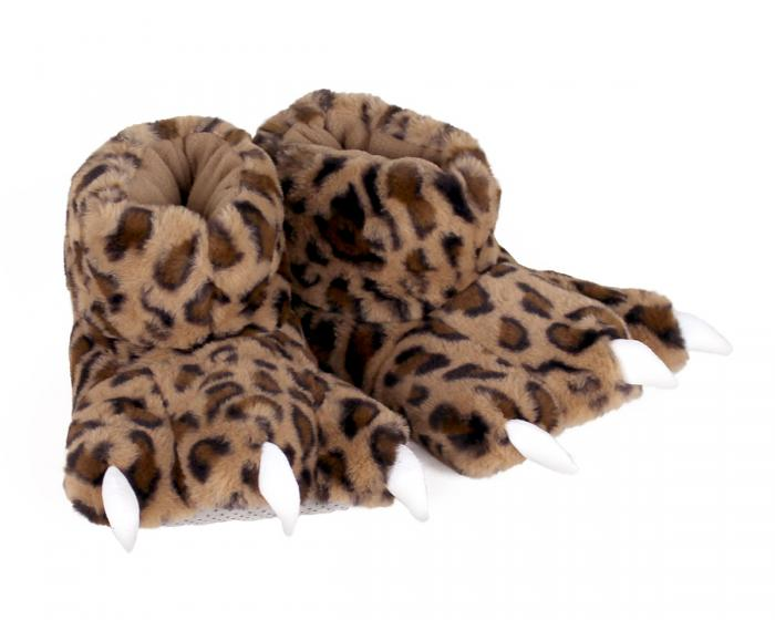 Leopard Paw Slippers 3/4 View