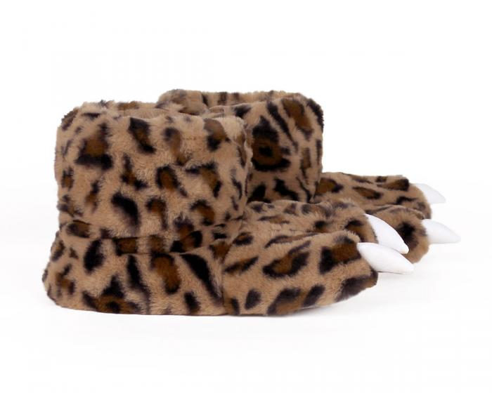 Leopard Paw Slippers Side View