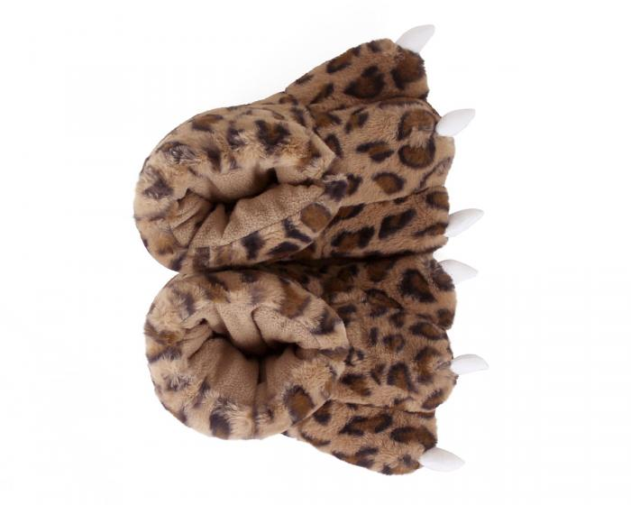 Leopard Paw Slippers Top View