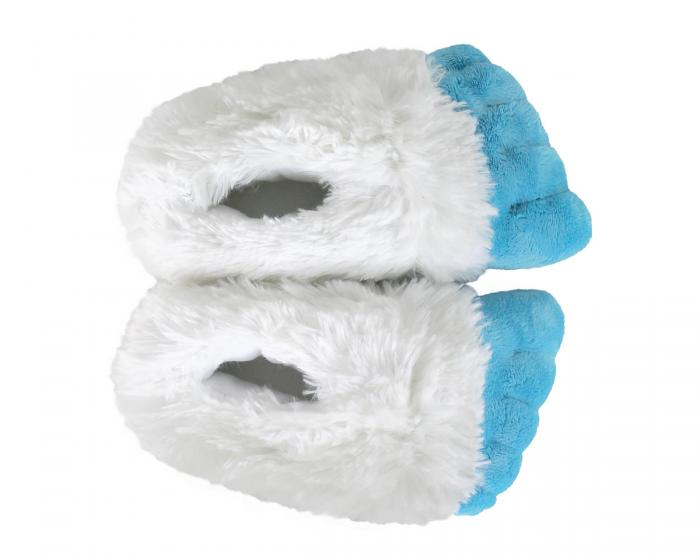 Kids Abominable Snowman Yeti Feet Slippers Top View