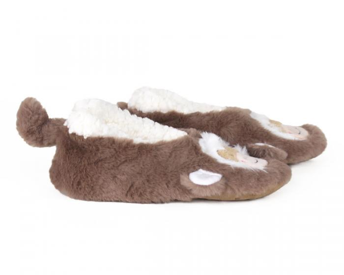 Kids Monkey Sock Slippers Side View