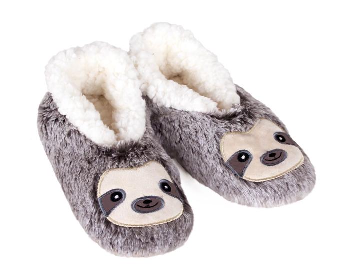 Kids Sloth Sock Slippers 3/4 View