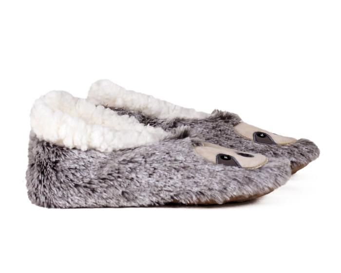 Kids Sloth Sock Slippers Side View