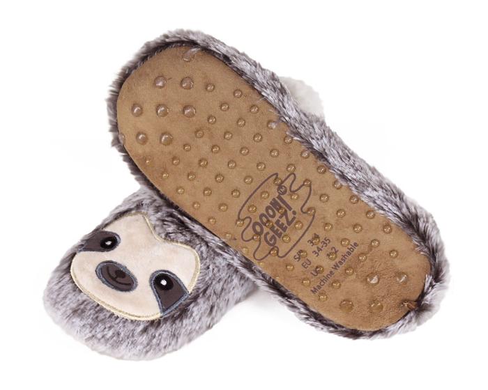 Kids Sloth Sock Slippers Bottom View