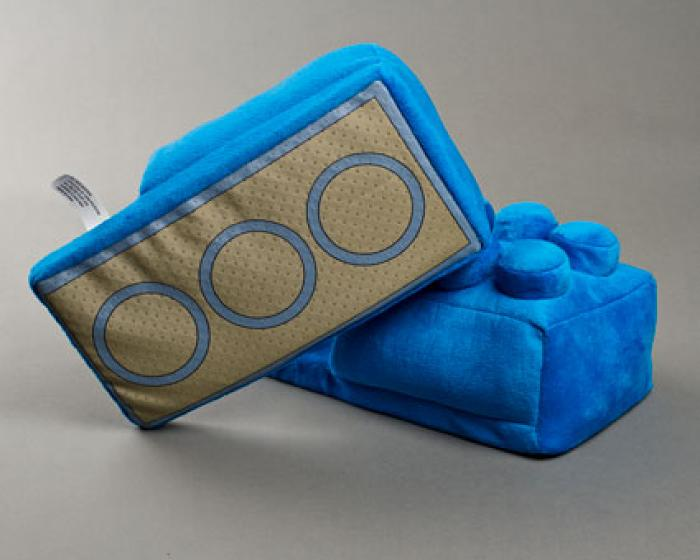 Blue Building Block Slippers 3