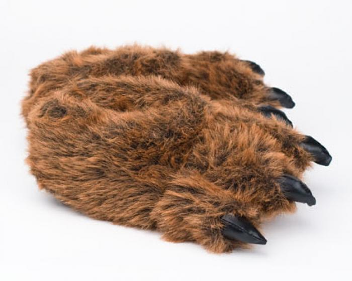 30073e3ba664 Grizzly Bear Paw Slippers 1 ...