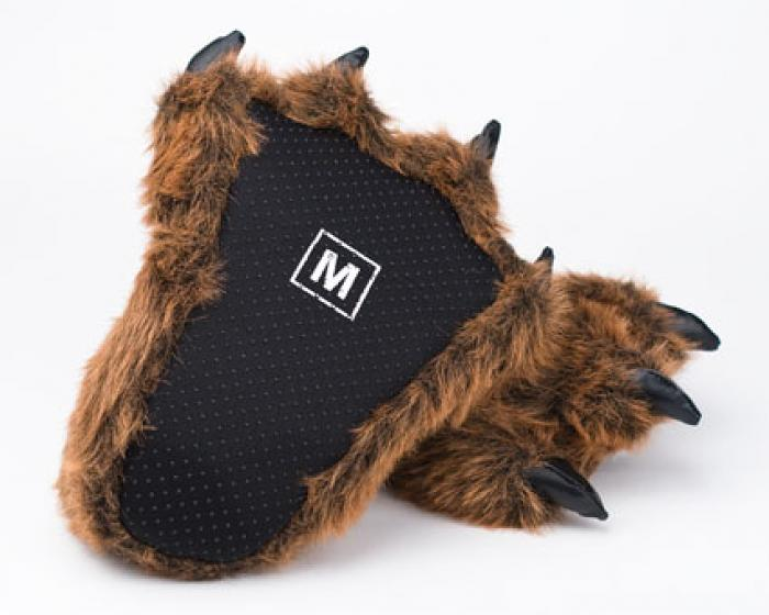 11c2c276cdcc ... Grizzly Bear Paw Slippers 3 ...