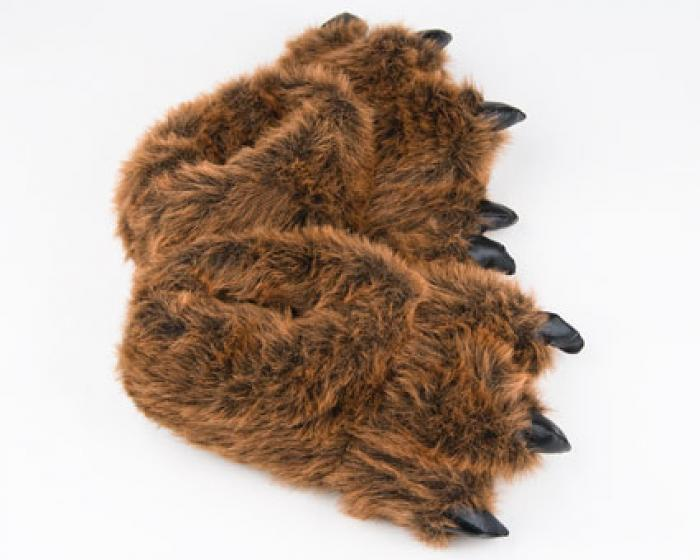 3e415fc29d48 ... Grizzly Bear Paw Slippers 4