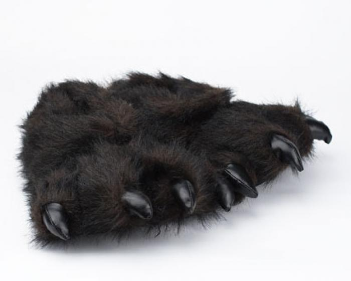 Toddler's Black Bear Paw Slippers 1