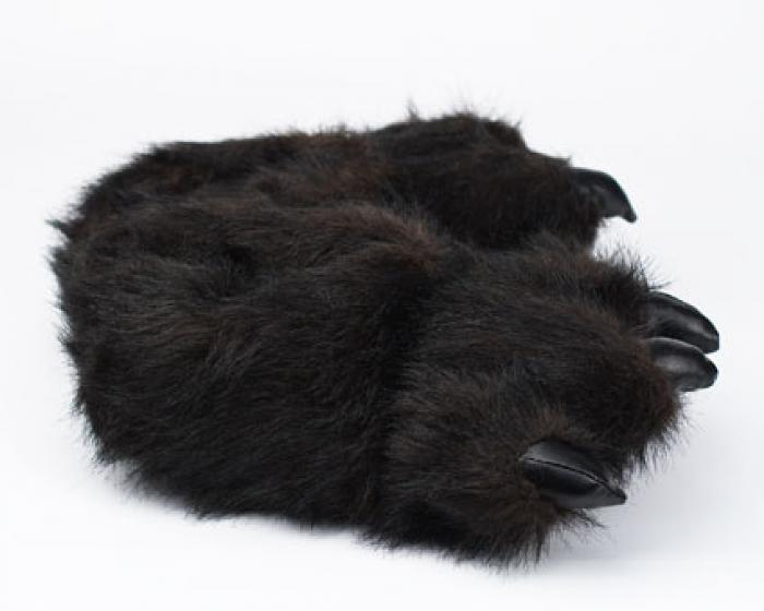 Toddler's Black Bear Paw Slippers 2