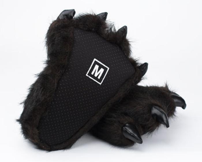 Toddler's Black Bear Paw Slippers 3