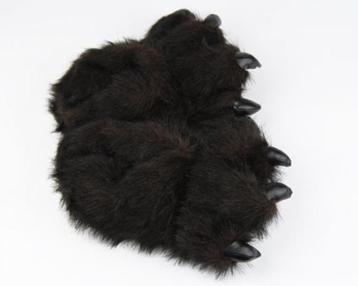 Toddler's Black Bear Paw Slippers 4