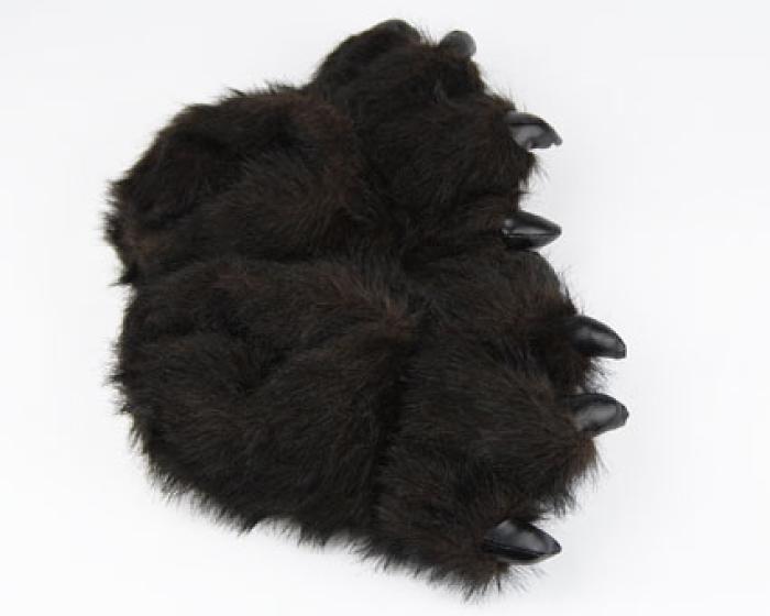 Toddler's Black Bear Paw Slippers 4