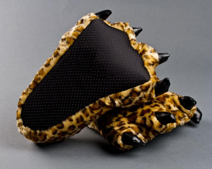 Children's Leopard Paw Slippers 3