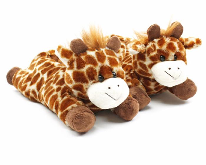 Fuzzy Giraffe Slippers 1