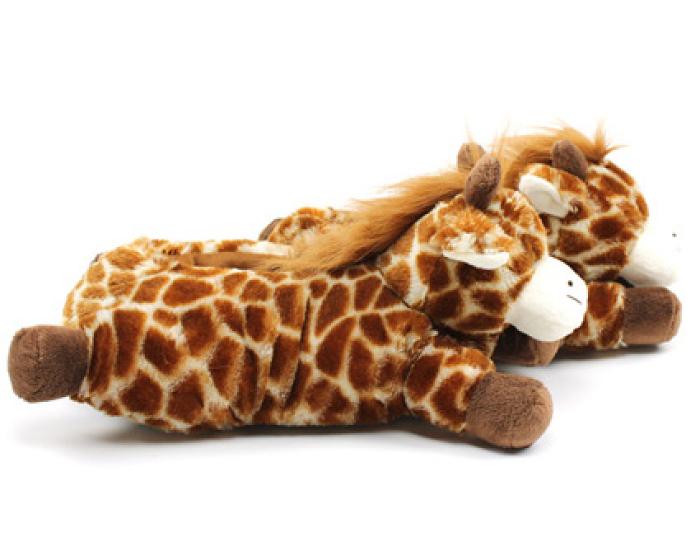 Fuzzy Giraffe Slippers 2