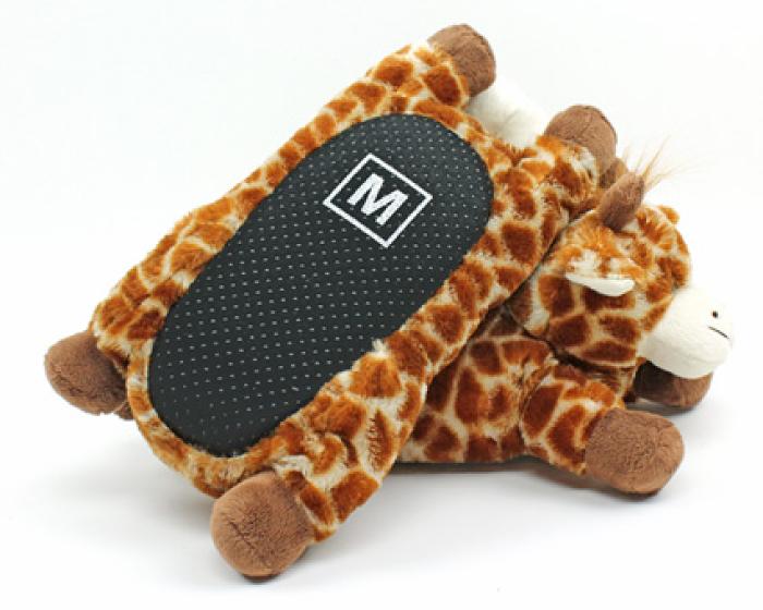 Fuzzy Giraffe Slippers 3