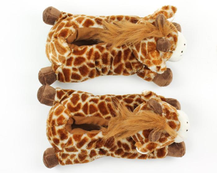 Fuzzy Giraffe Slippers 4