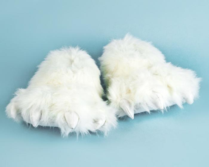 Polar Bear Paw Slippers 2
