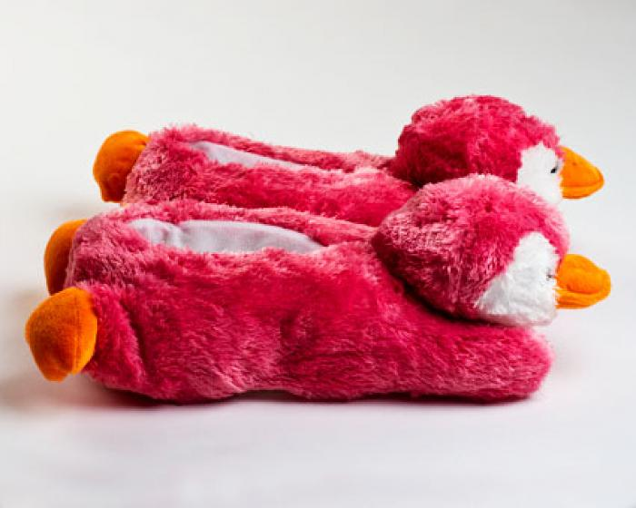 Pink Penguin Slippers 2