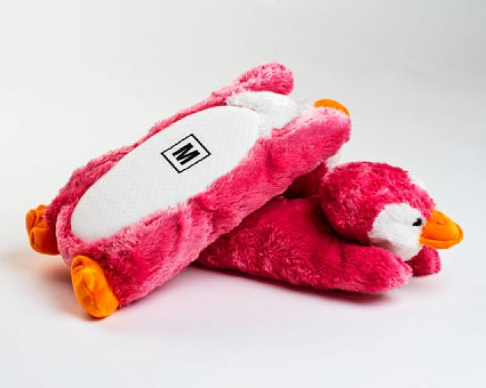 Pink Penguin Slippers 3