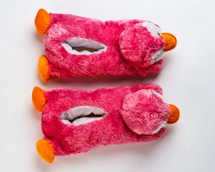 Pink Penguin Slippers 4