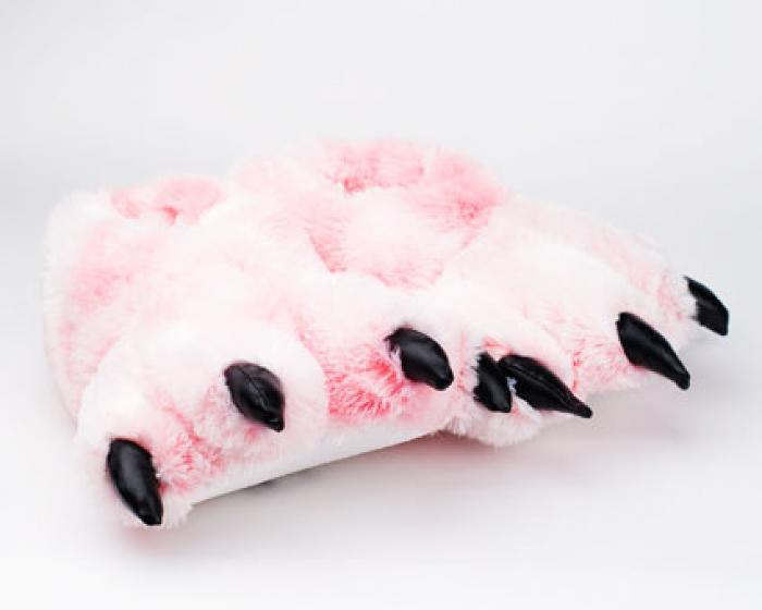 Pink Tiger Paw Slippers 1