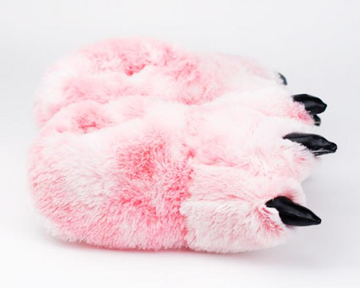 Pink Tiger Paw Slippers 2