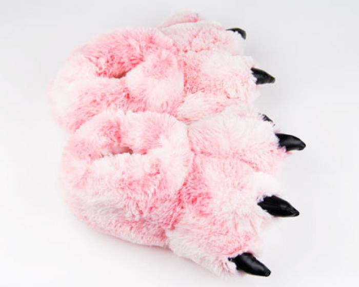 Pink Tiger Paw Slippers 4