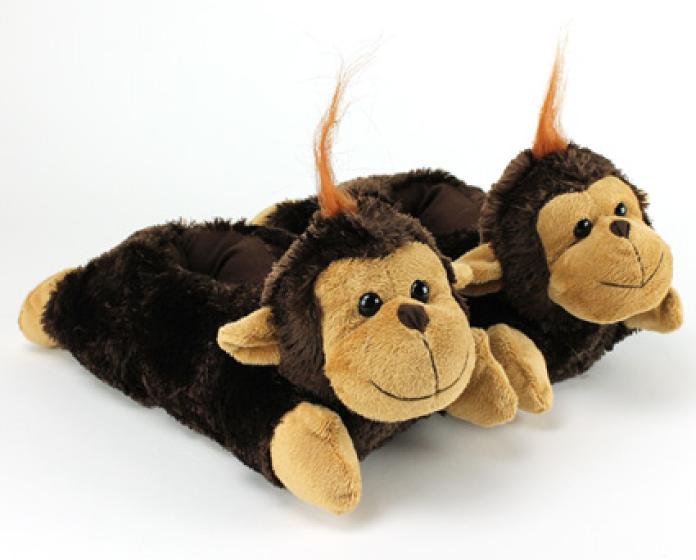 Fuzzy Monkey Slippers 1