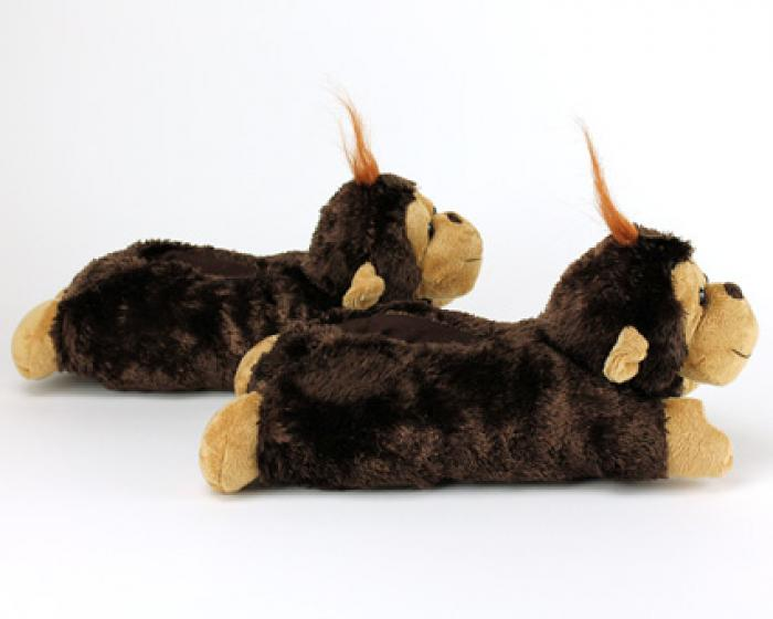 Fuzzy Monkey Slippers 3