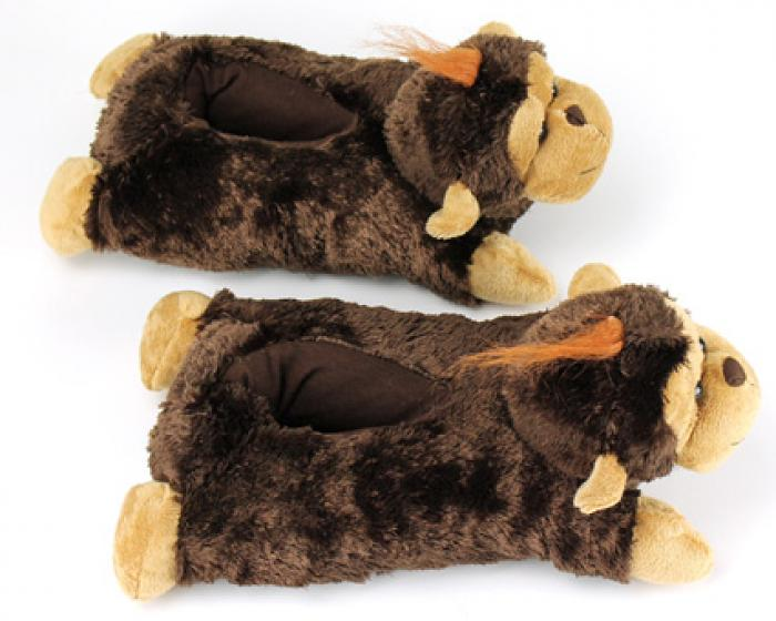 Fuzzy Monkey Slippers 4