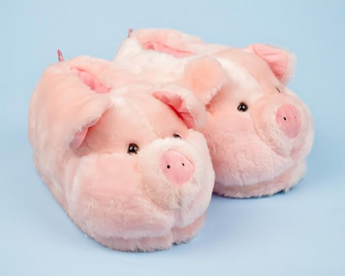 Pink Pig Animal Slippers 1