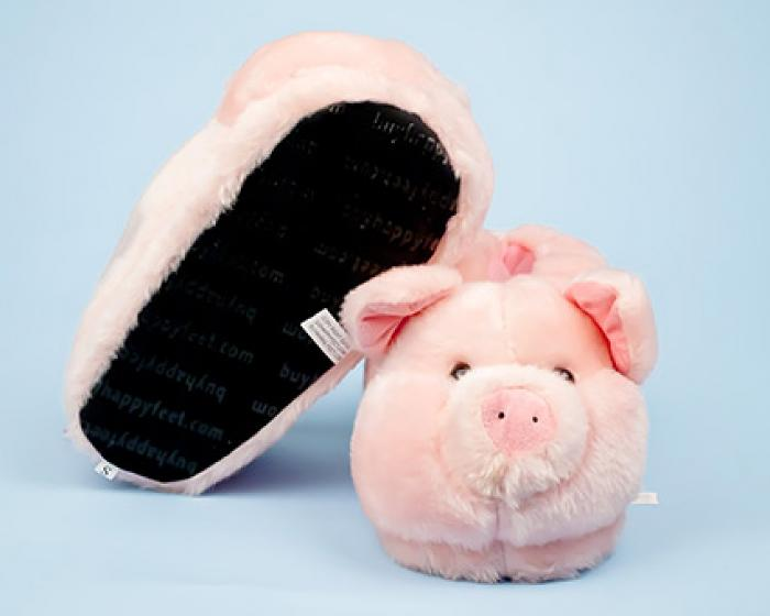5eb8ec13ec0 ... Pink Pig Animal Slippers 3 ...