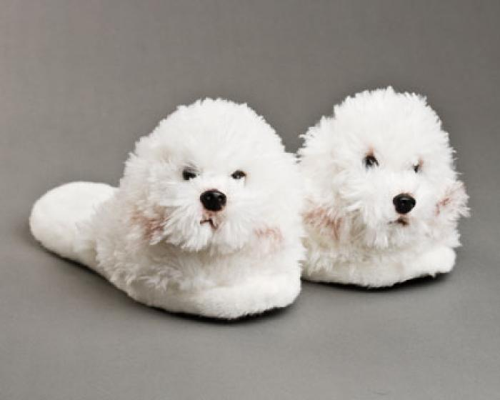 Bichon Frise Dog Slippers 1