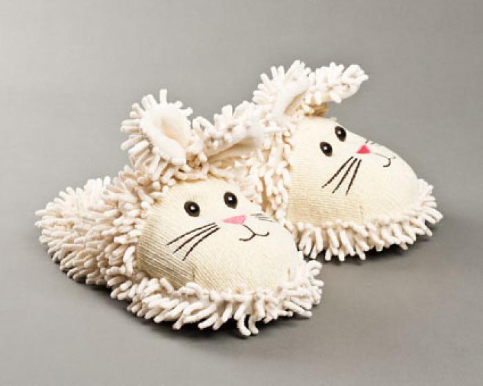 Fuzzy Bunny Slippers 1