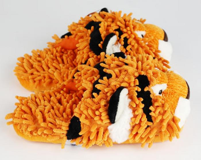 Fuzzy Tiger Slippers 2