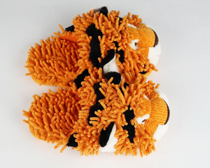 Fuzzy Tiger Slippers 4