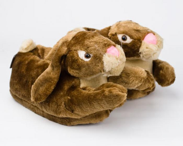 Brown Bunny Rabbit Slippers 1