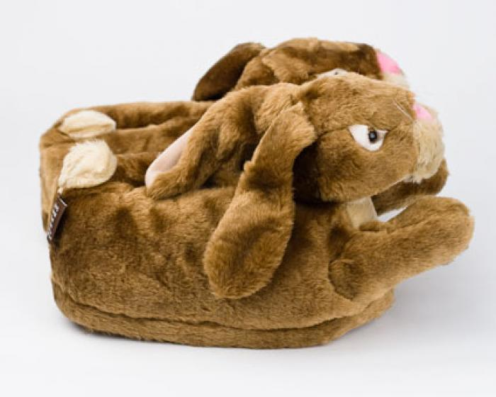 Brown Bunny Rabbit Slippers 2