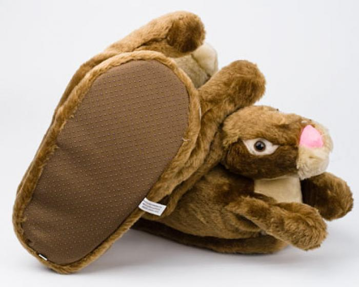Brown Bunny Rabbit Slippers 3