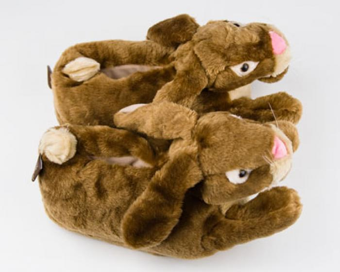 Brown Bunny Rabbit Slippers 4