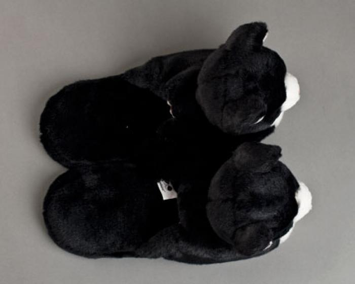Black And White Kitty Slippers 4