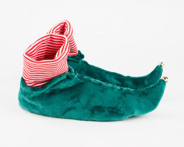 Kids Green Elf Slippers 2