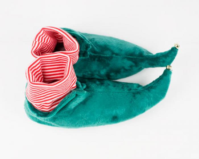 Kids Green Elf Slippers 4