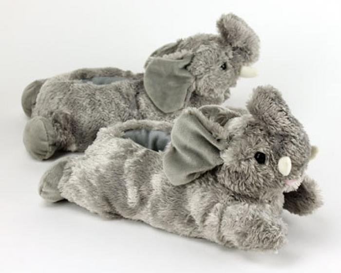 Fuzzy Elephant Slippers 1
