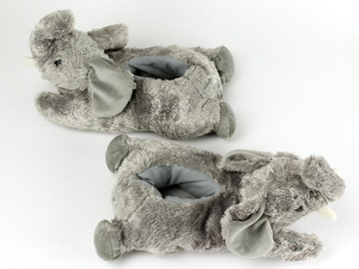 Fuzzy Elephant Slippers 4