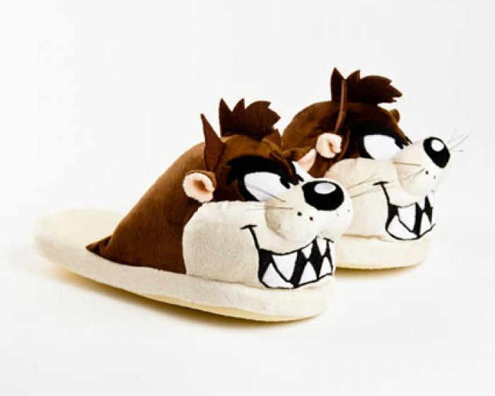 Taz Looney Tunes Character Slippers 1