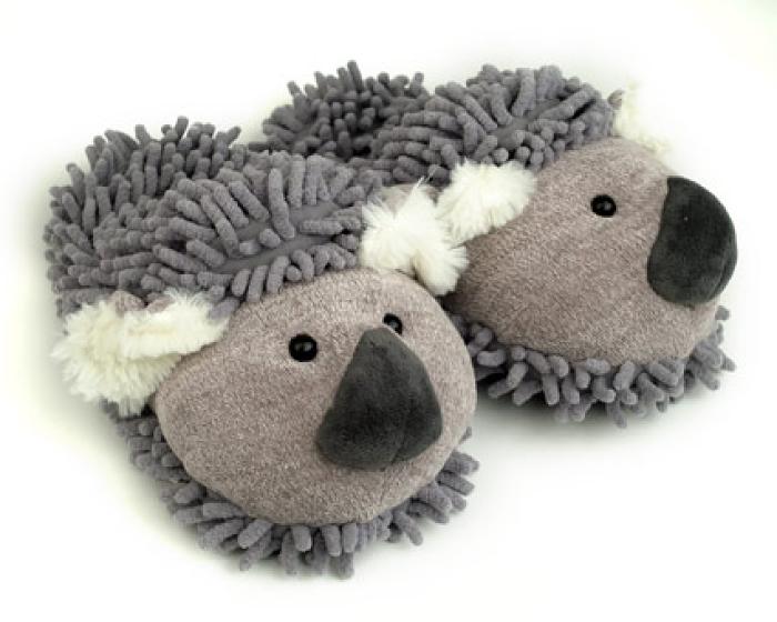 Fuzzy Koala Slippers 1